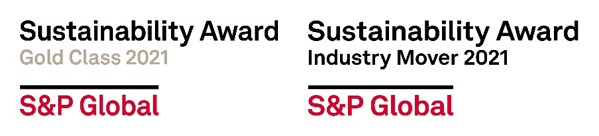 Sustainability awards from S&P global