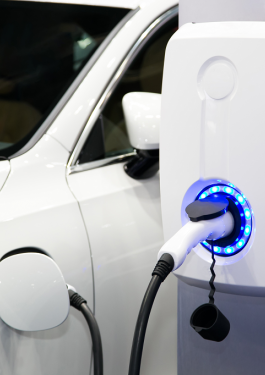 electric car in electric recharging
